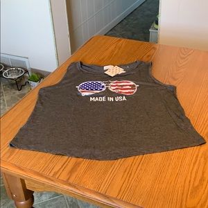 "Free Kisses ""Made in USA"" tank, large."